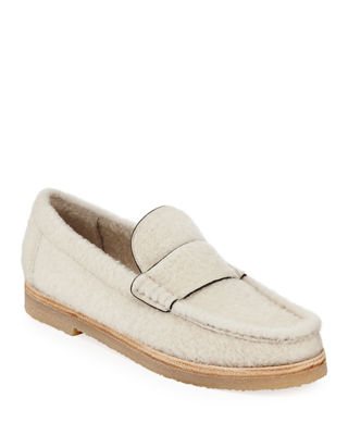 Bromley Genuine Shearling Loafer, Cream