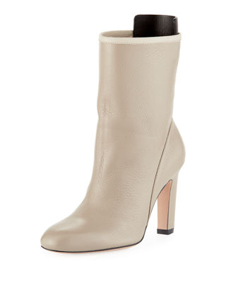 Brooks Slouchy Leather Bootie in Seal Ghent Leather