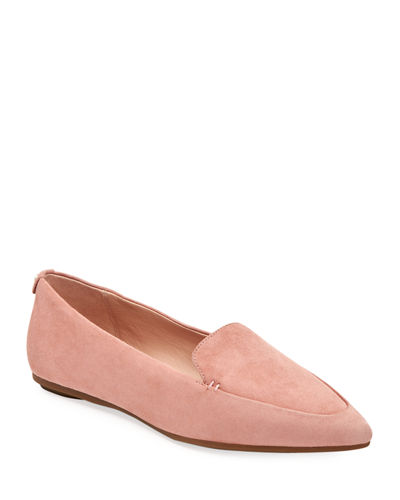 Faye Suede Flat Loafers