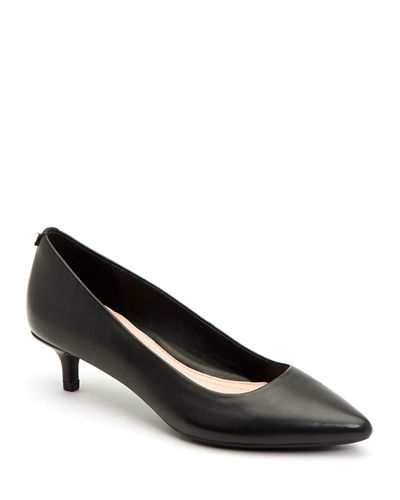 Naomi Leather Kitten-Heel Pumps