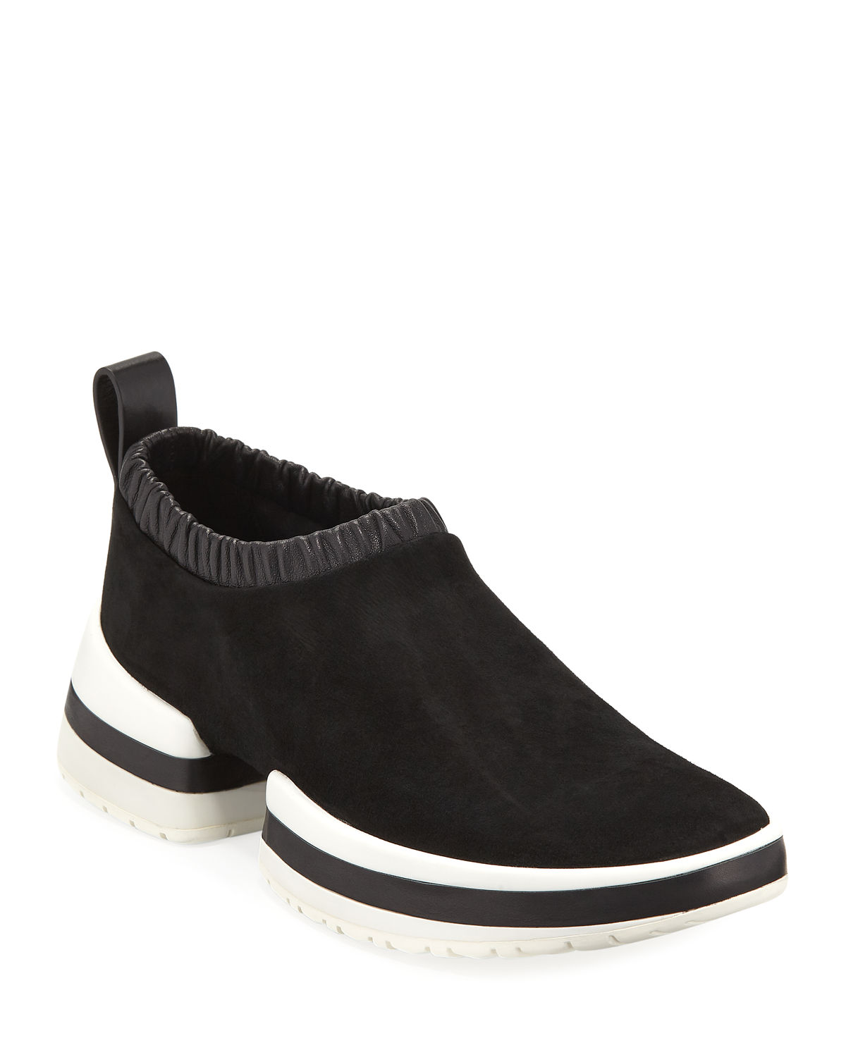 SW-612 Suede/Leather Slip-On Sneakers
