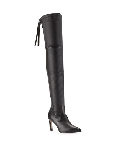 Natalia 75mm Leather Over-The-Knee Boots
