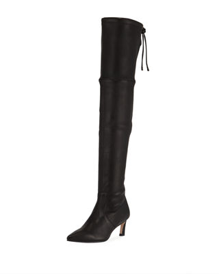 Natalia 55mm Leather Over The Knee Boots by Stuart Weitzman