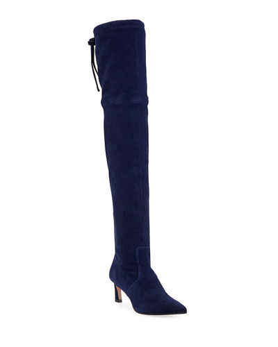 Natalia 55mm Suede Over-The-Knee Boots