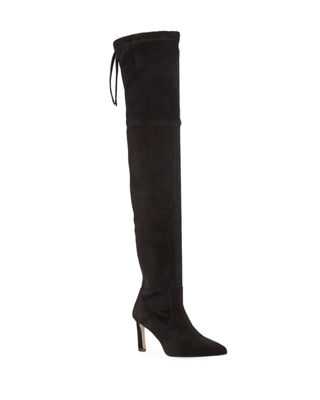 Natalia 75mm Suede Over The Knee Boots by Stuart Weitzman
