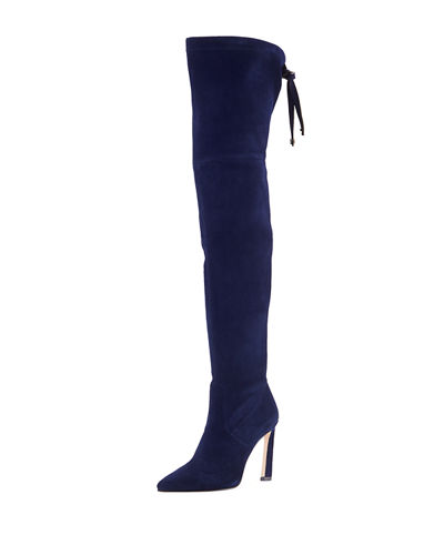 Natalia 100mm Suede Over-The-Knee Boots