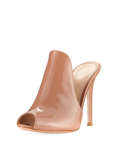 105mm Patent Leather Mule Sandal