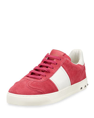 Valentino Garavani Fly Crew Suede Low-Top Sneakers