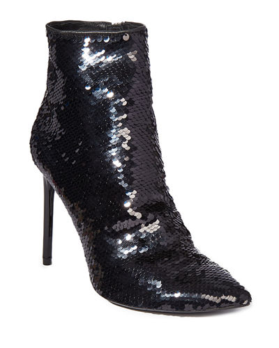 Celyn Sequined Ankle Booties