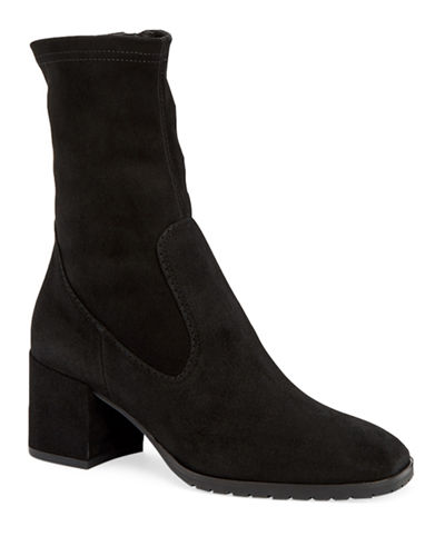 Cecilia Stretch-Suede Sock Booties