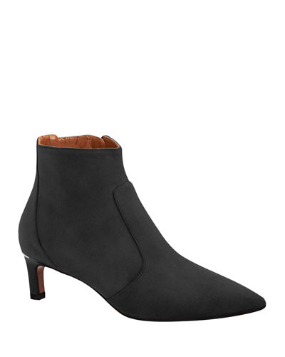 Marilisa Low-Heel Suede Booties