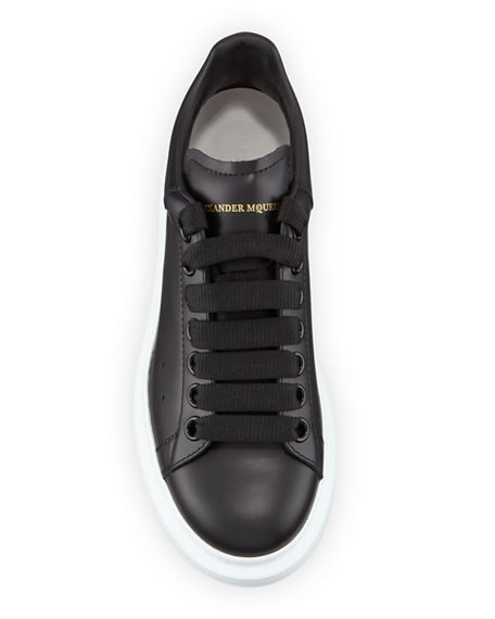 Image 4 of 4: Alexander McQueen Pelle Lace-Up Sneakers