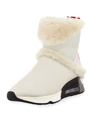 Laika Genuine Shearling Bootie, Off White