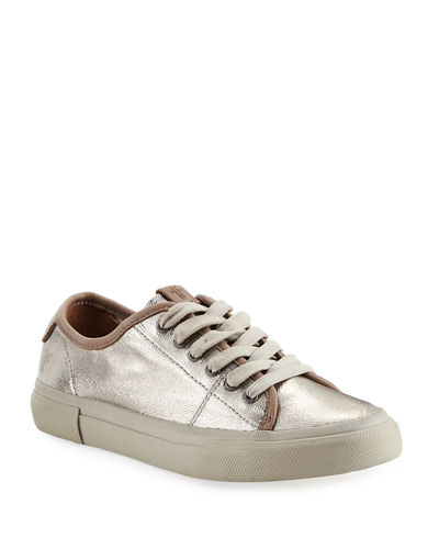 Gia Coated Canvas Low-Top Sneakers