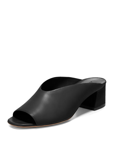 Cachet Leather Slide Mule