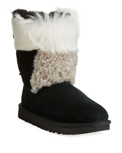 Classic Patchwork Fluff Boots