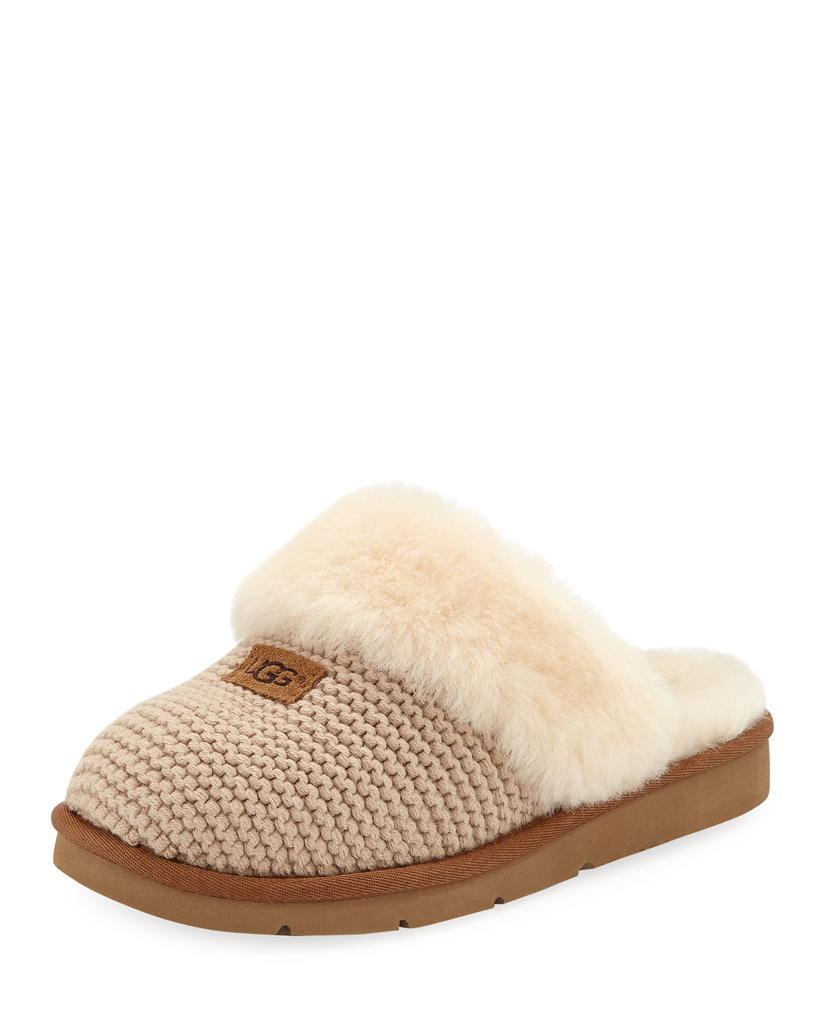 588973707d0 Cozy Knit Slippers with Sheepskin