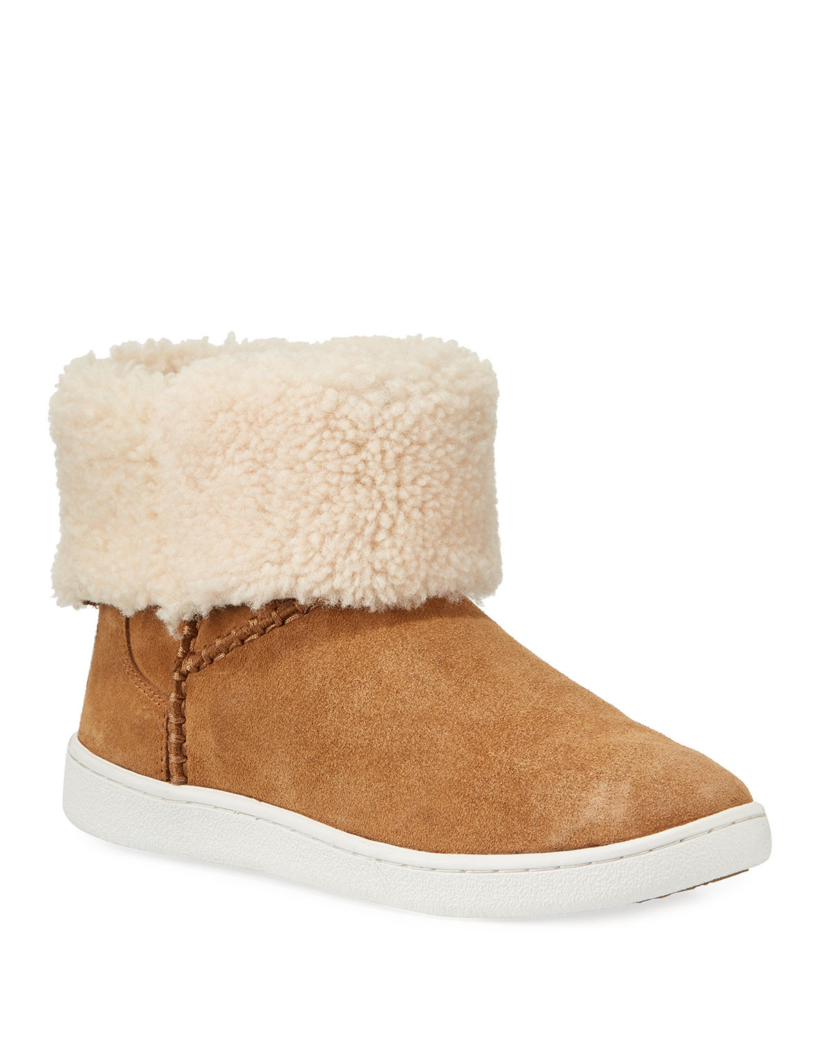 Mika Curly Shearling Bootie Sneakers