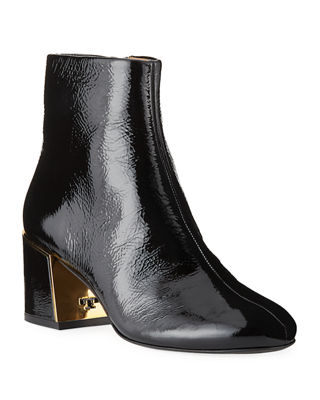 WOMEN'S JULIANA TUMBLED PATENT LEATHER BOOTIES