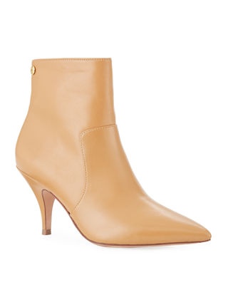Tory Burch Georgina Mid-Heel Leather Booties