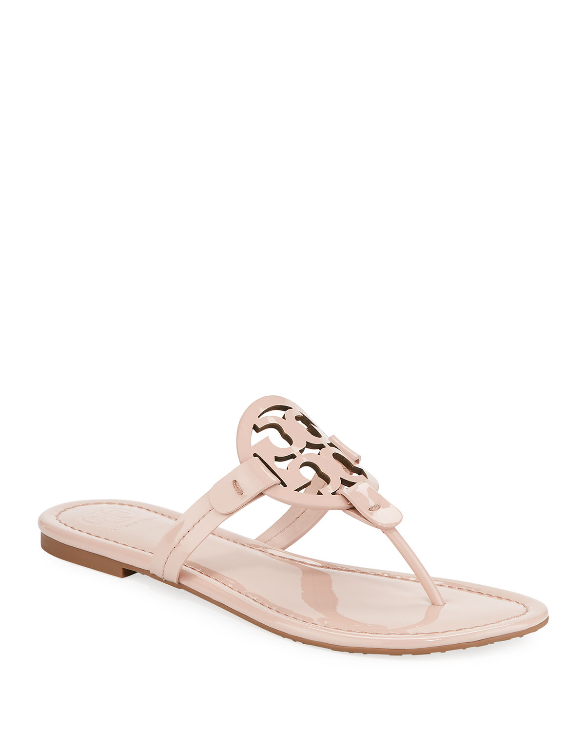 853520f93095dc Tory Burch Miller Medallion Patent Leather Flat Thong Sandals ...