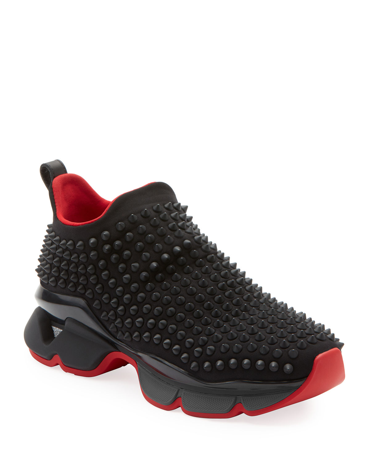 81a35926d9d2 Christian Louboutin Spike Sock Donna Red Sole Sneakers