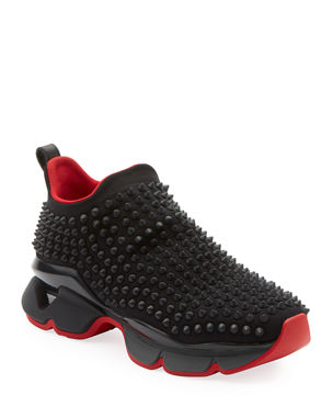 Christian Louboutin Spike Sock Donna Red Sole Sneakers f4a17f419