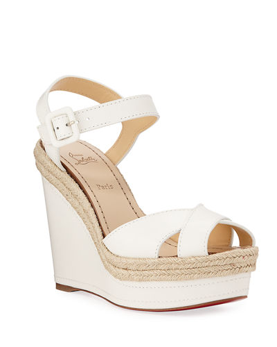 Almeria Wedge Red Sole Espadrilles