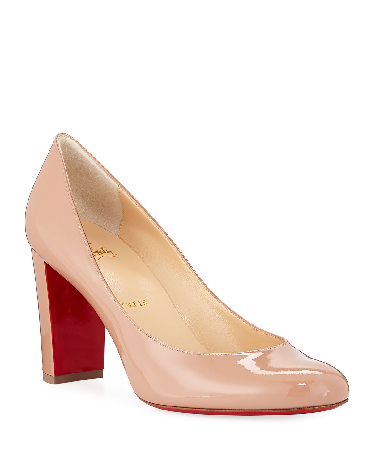classic shoes size 40 details for Christian Louboutin Lady Gena Patent Red Sole Pumps | Neiman Marcus