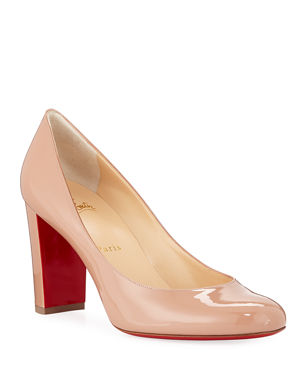 5bdfaf169df6f Christian Louboutin Lady Gena Patent Red Sole Pumps