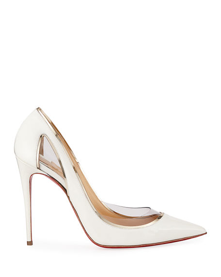 Christian Louboutin Cosmo 554 Patent Vinyl High Heel Red