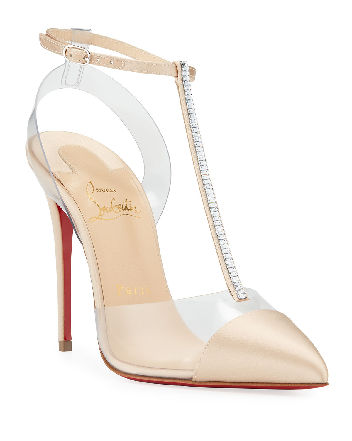 Nosy Strass Red Sole Pumps