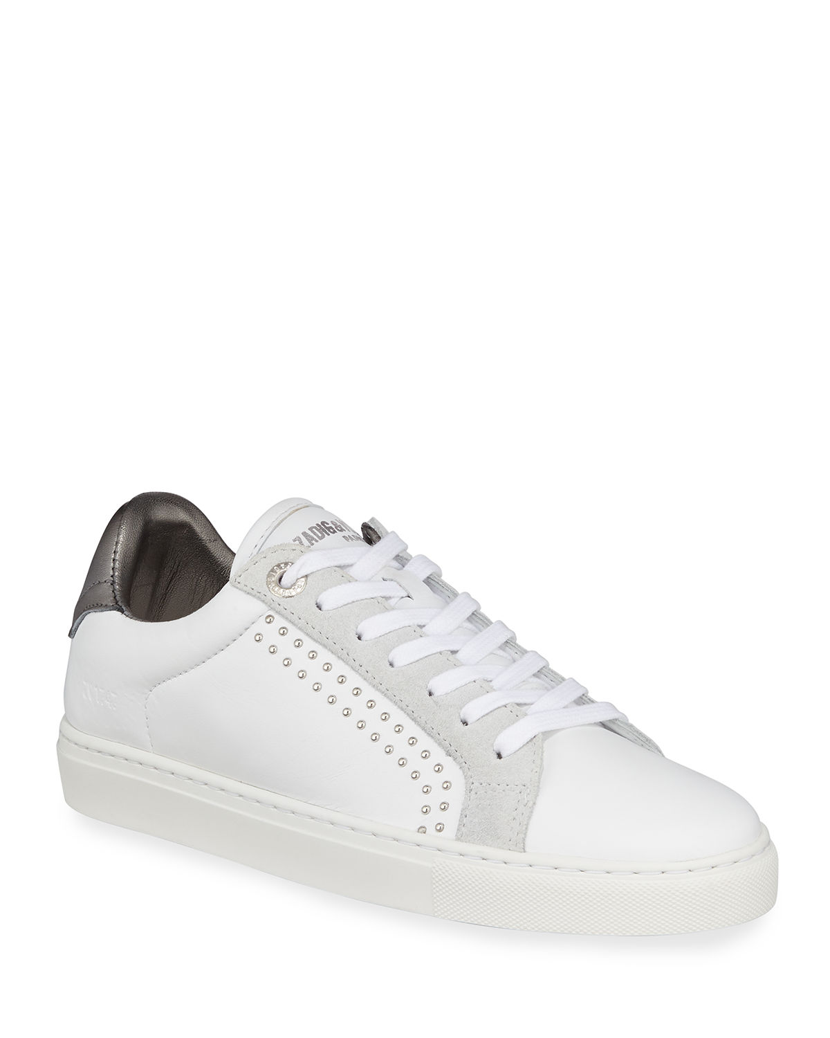 ZV1747 Studded Leather Low-Top Sneakers