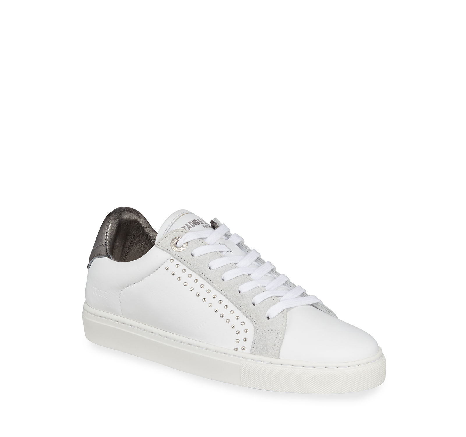 Zadig & Low-Top Voltaire ZV1747 Studded Leather Low-Top & Sneakers 7566b4