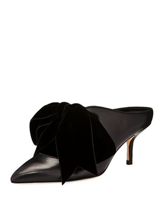 Gentlemen/Ladies Gentlemen/Ladies Gentlemen/Ladies Tory Burch Clara Leather Mules with Velvet Bow  Trend 9693da