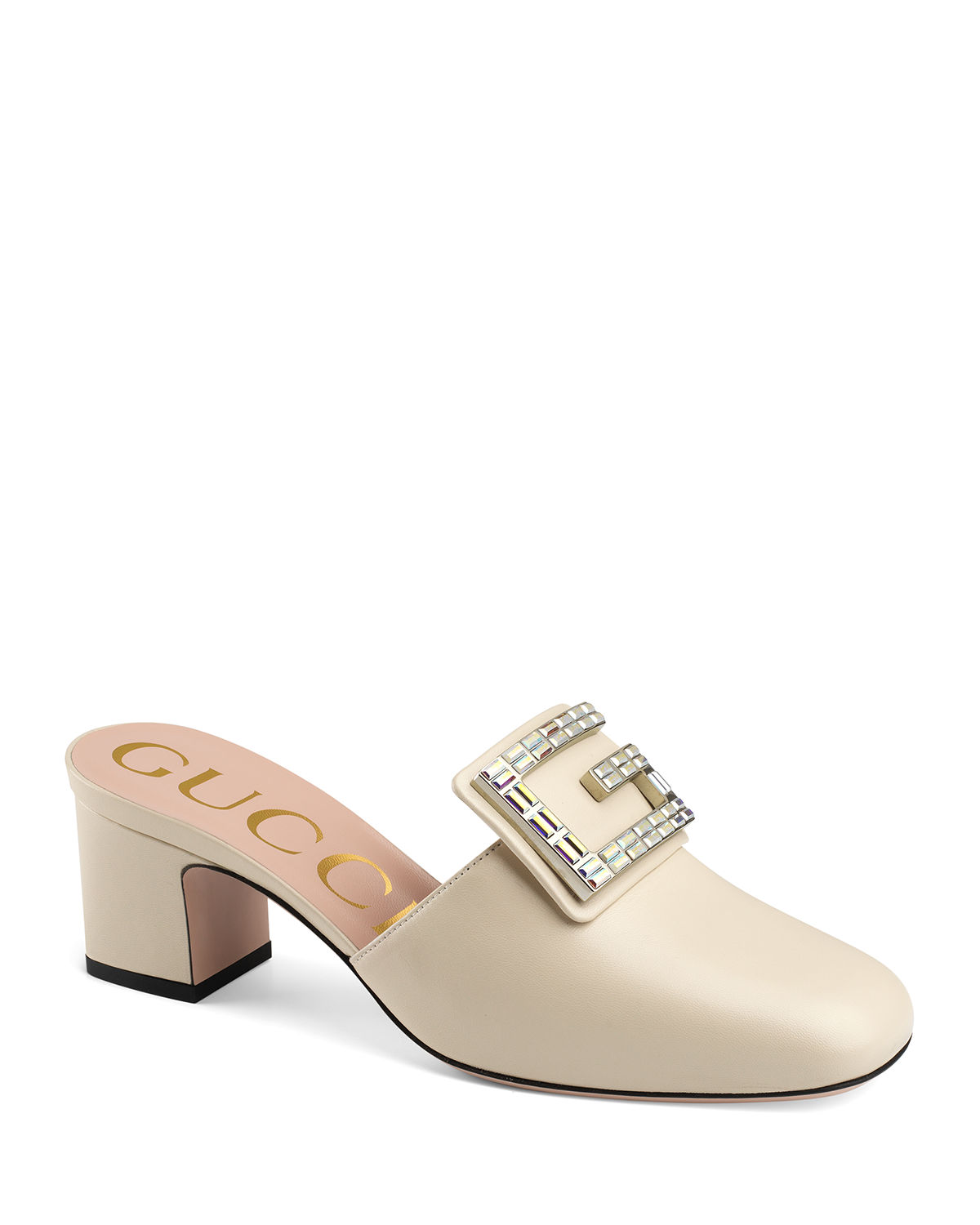 Madelyn 55mm Leather Mules with Square G