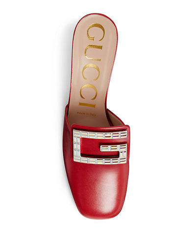 Gucci Madelyn 55mm Leather Mules with Square G