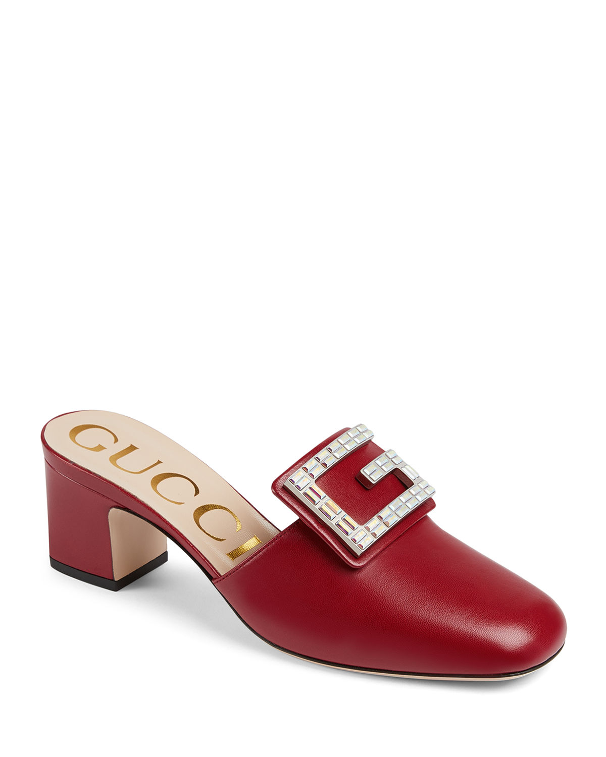 820d06c7edd Gucci Madelyn 55mm Leather Mules with Square G
