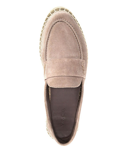 Daria Suede Flat Espadrille Loafers