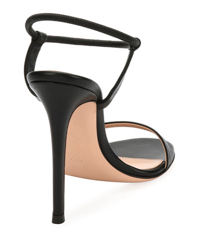 Lamb Leather Ankle-Strap Sandal