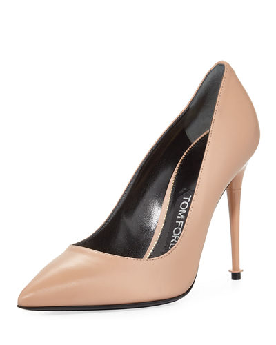 Soft Leather Point-Toe 105mm Pump
