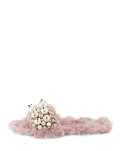 Miu Miu Pearly Slide Sandal