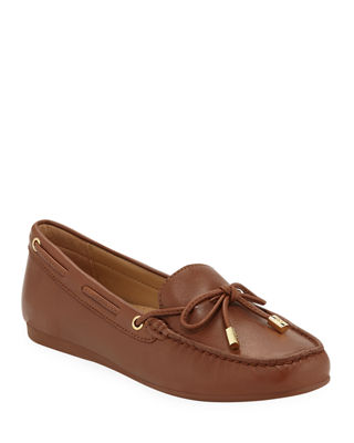 Women'S Sutton Leather Moccasins, Luggage Leather