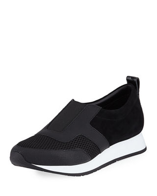 Donald J Pliner Rie Mixed Leather Sneakers