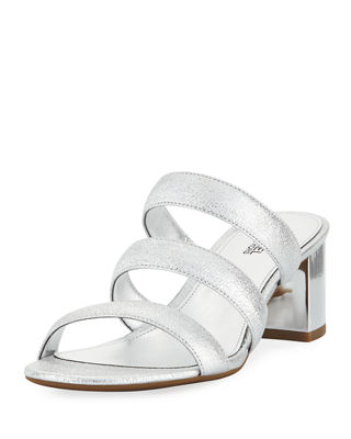 MICHAEL Michael Kors Paloma Flex Cracked Metallic Leather Sandal