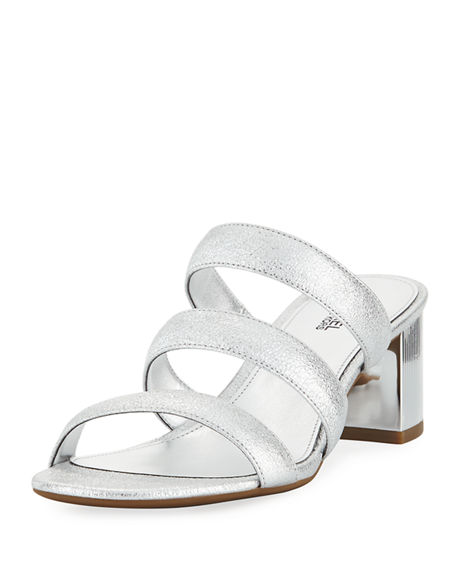 MICHAEL Michael Kors Paloma Flex Cracked Metallic Leather Sandal lXu1fcC4g