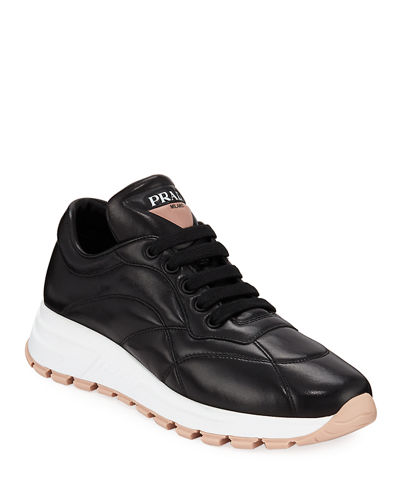 Quilted Leather Trainer Sneakers