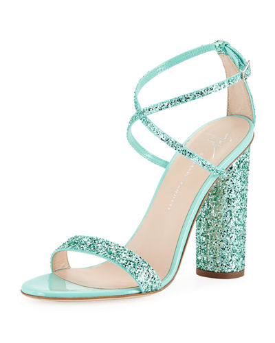 Glitter Crisscross High Sandals