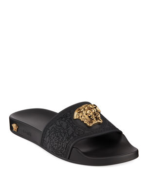 cd027a7be9e929 Versace Palazzo Medusa Pool Slide Sandals
