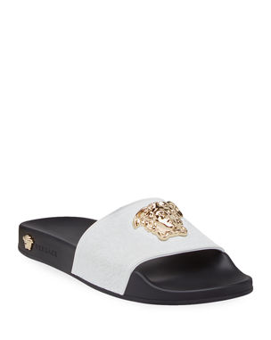 bed1b1f4d9b Versace Palazzo Medusa Pool Slide Sandals